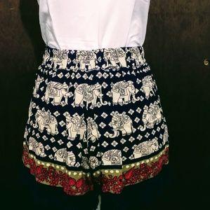 Angie elephant shorts 🐘  Boho🍂 crochet detail